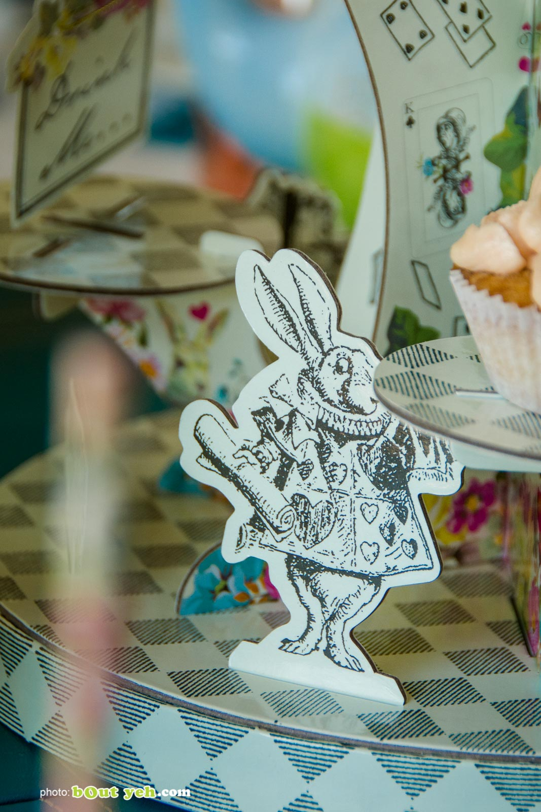 Alice in Wonderland Rabbit figure at the Bout Yeh Brexit Mad Hatters Tea Party - photo 9236 by Bout Yeh photographers Belfast