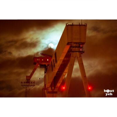 Harland and Wolff shipyard Belfast at night - photo 8864 print for sale