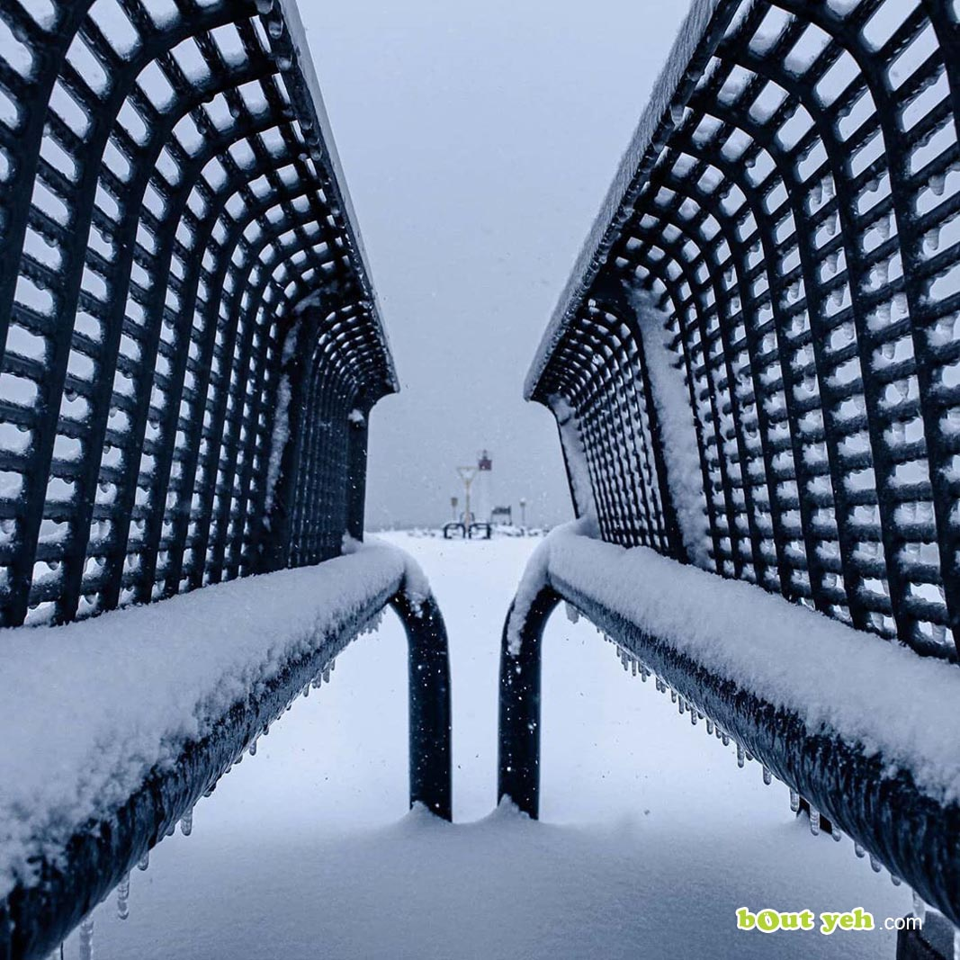 Photograph of Whitby Pier Toronto Canada covered in snow by Robert McLaughlin - photo 5893 shared by Bout Yeh photographers Belfast
