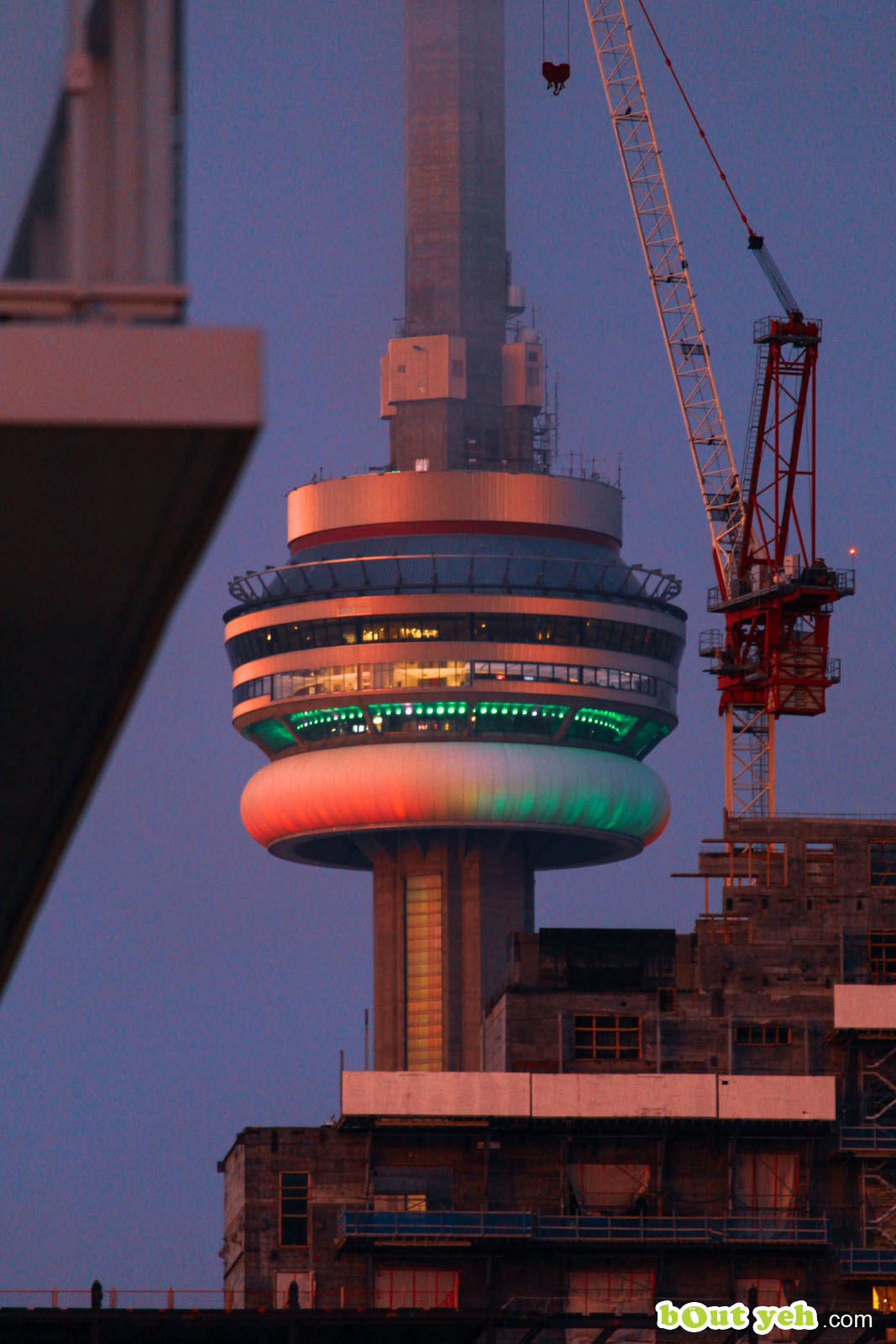 CN Tower Toronto Canada -  photograph by Robert McLaughlin shared by Bout Yeh photographers and video production Belfast