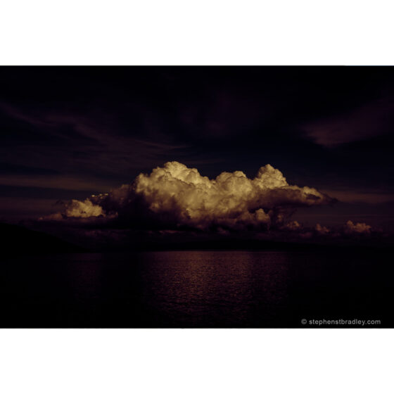 A Very Particular Place - limited edition photographic print of clouds over Cushendun Bay, Northern Ireland, by photographer Stephen S T Bradley, for sale by Bout Yeh art gallery
