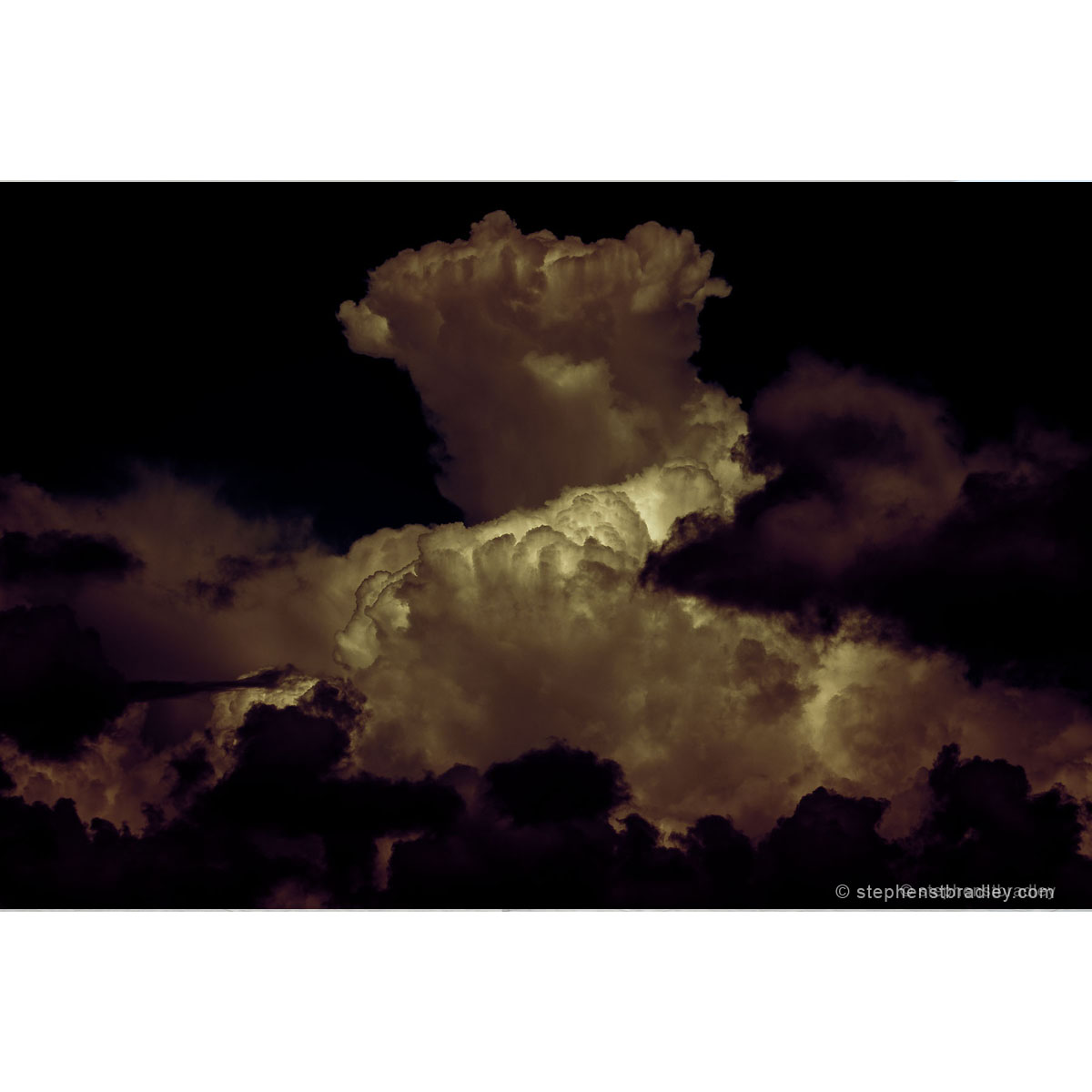 Night On Witch Mountain Redux - limited edition photographic print of a dramatic cloud formation over Mallusk for sale by Bout Yeh art gallery Belfast and Dublin