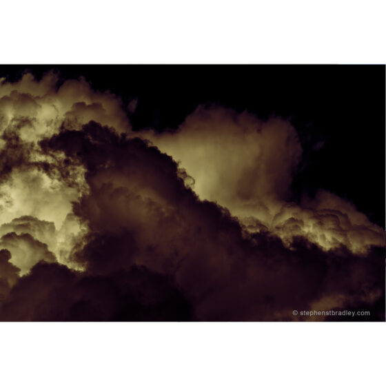 Rebirthed - limited edition photo of clouds over Glencorp, County Antrim, by photographer Stephen S T Bradley, for sale by Bout Yeh art gallery Belfast and Dublin Ireland