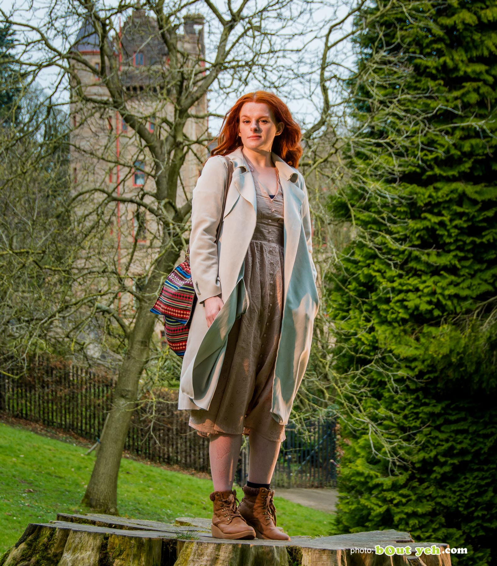 Author Lauren Robinson photographed in the grounds of Belfast Castle by Bout Yeh photographers Belfast - photo 0832