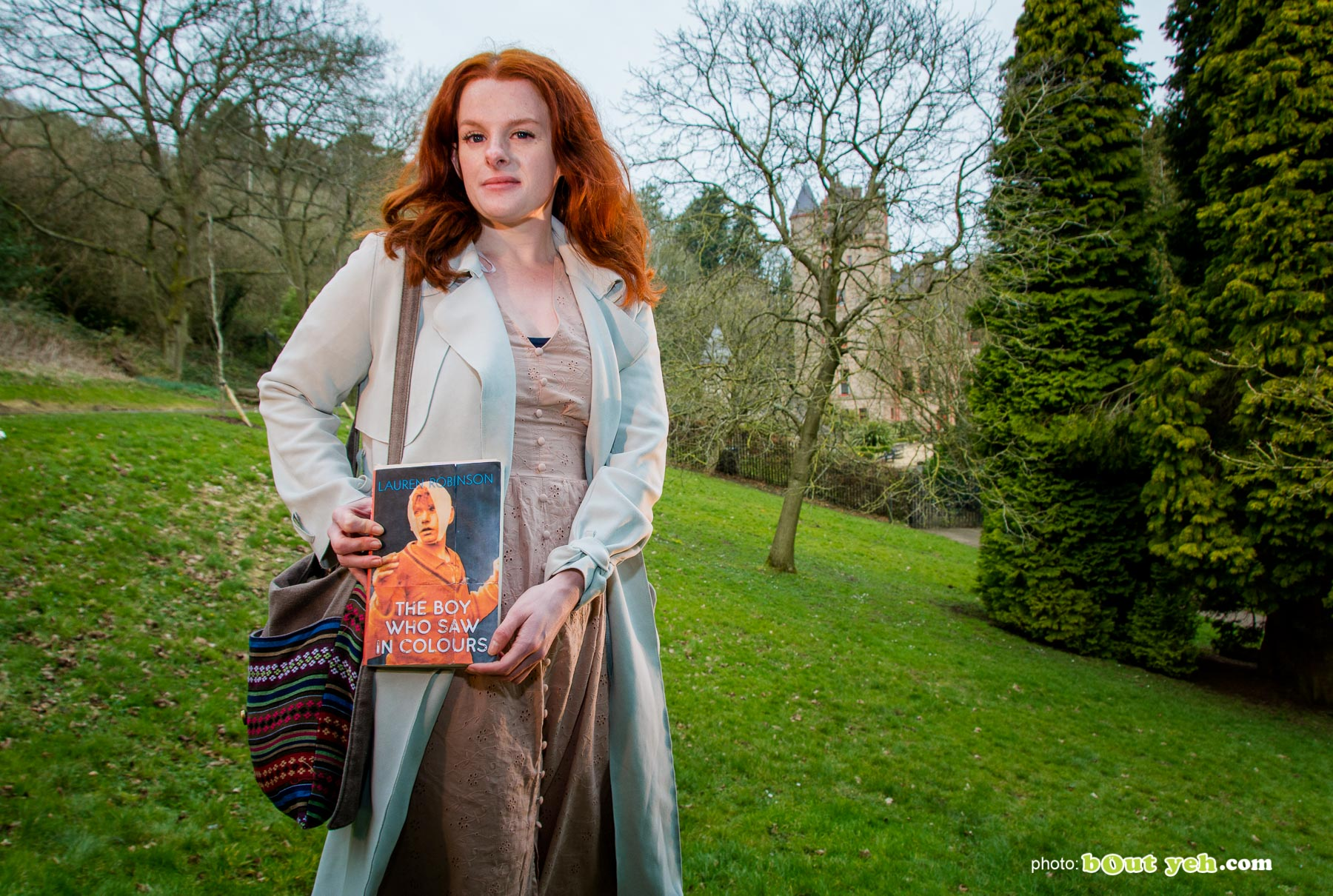 Author Lauren Robinson photographed in the grounds of Belfast Castle by Bout Yeh photographers Belfast - photo 0898
