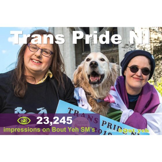 Shoot better images for Social Media - social media marketing tuition, Trans Pride NI campaign photo