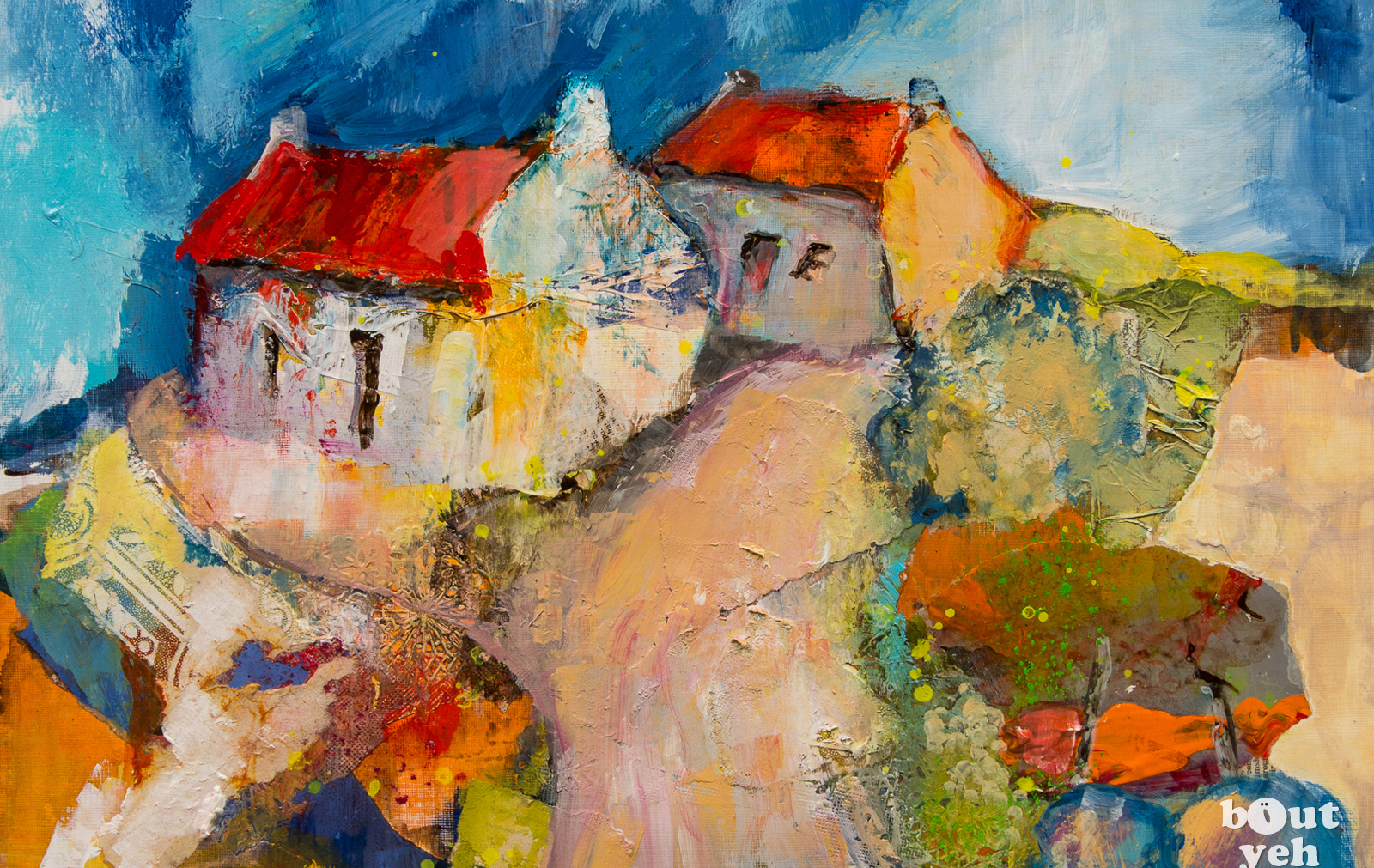 Paintings of Ireland for sale - The Old Homestead, Comber, Northern Ireland, by Margaret Brand 5614.