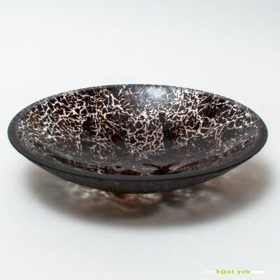 Contemporary bullseye glass bowl in panta rhei red - Irish glassware. Photo 1617