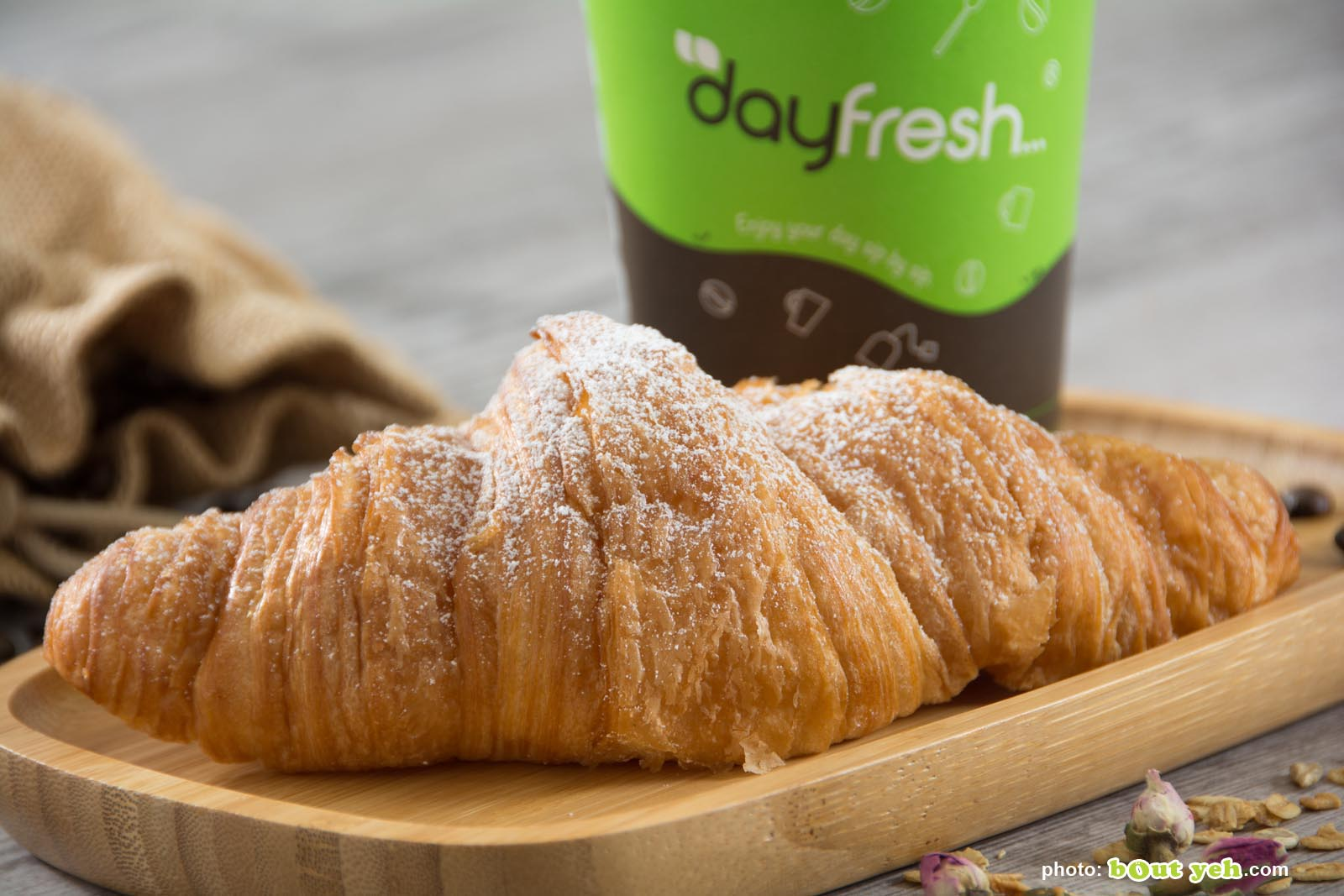 Food photographers Belfast portfolio photo 3447 - fresh croissant and coffee