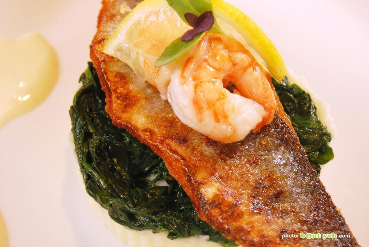 Food photographers Belfast portfolio featured image 0854 - fish dish with prawn and lemon garnish
