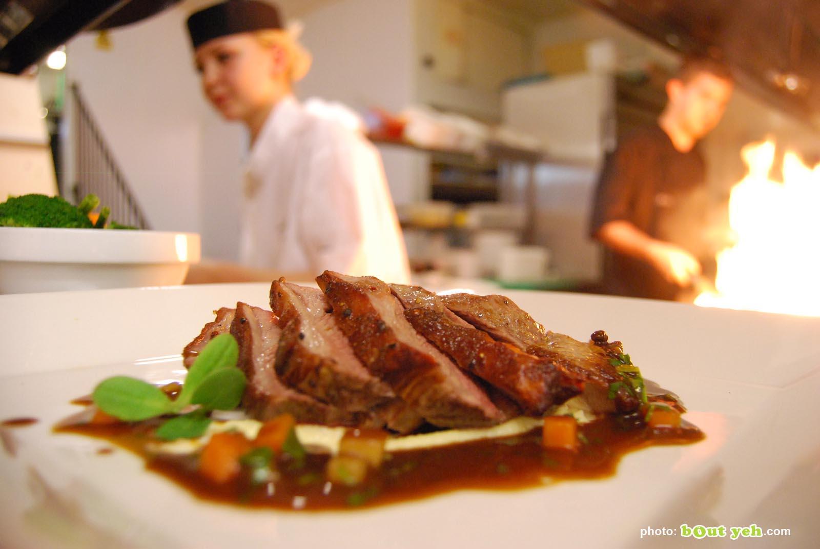 Food photographers Belfast portfolio photo 0806 - pork loins in restaurant kitchen