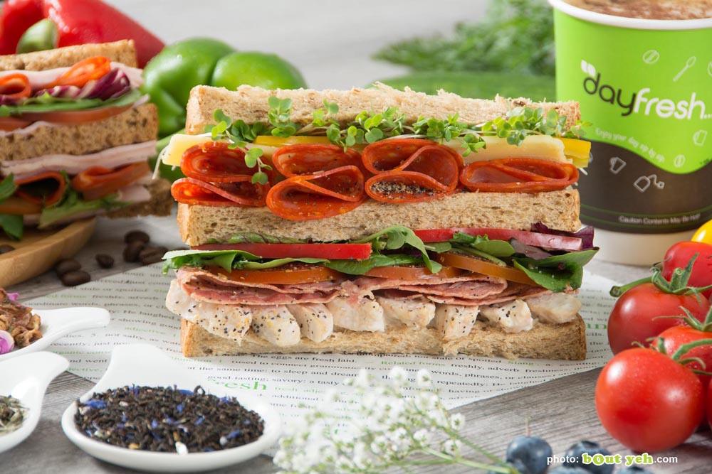 Food photographers Belfast portfolio featured image 3188 - salami and watercress sandwich