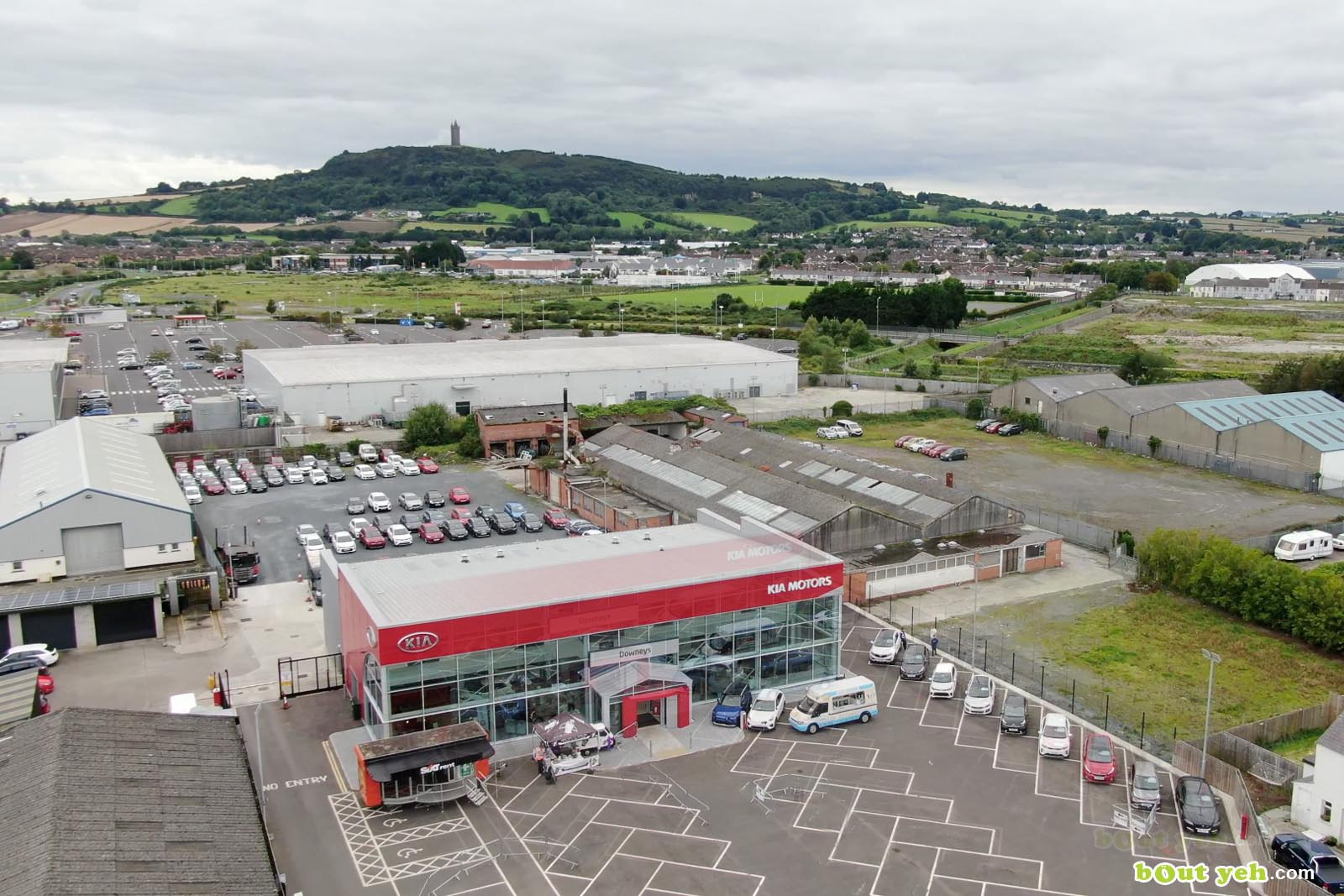 Aerial drone photography of Kia Cars Newtownabbey by Bout Yeh aerial drone photographers, Belfast, Northern Ireland - screenshot 1