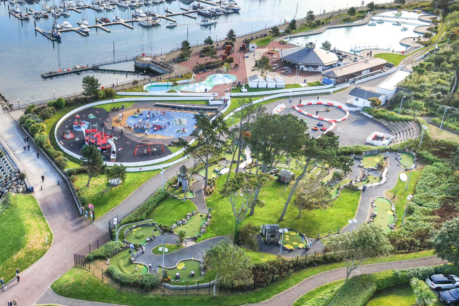 Aerial photo of Bangor Marina and Pickie Fun Park by Bout Yeh drone photography and video production services, Belfast and Northern Ireland - photo 0149-2