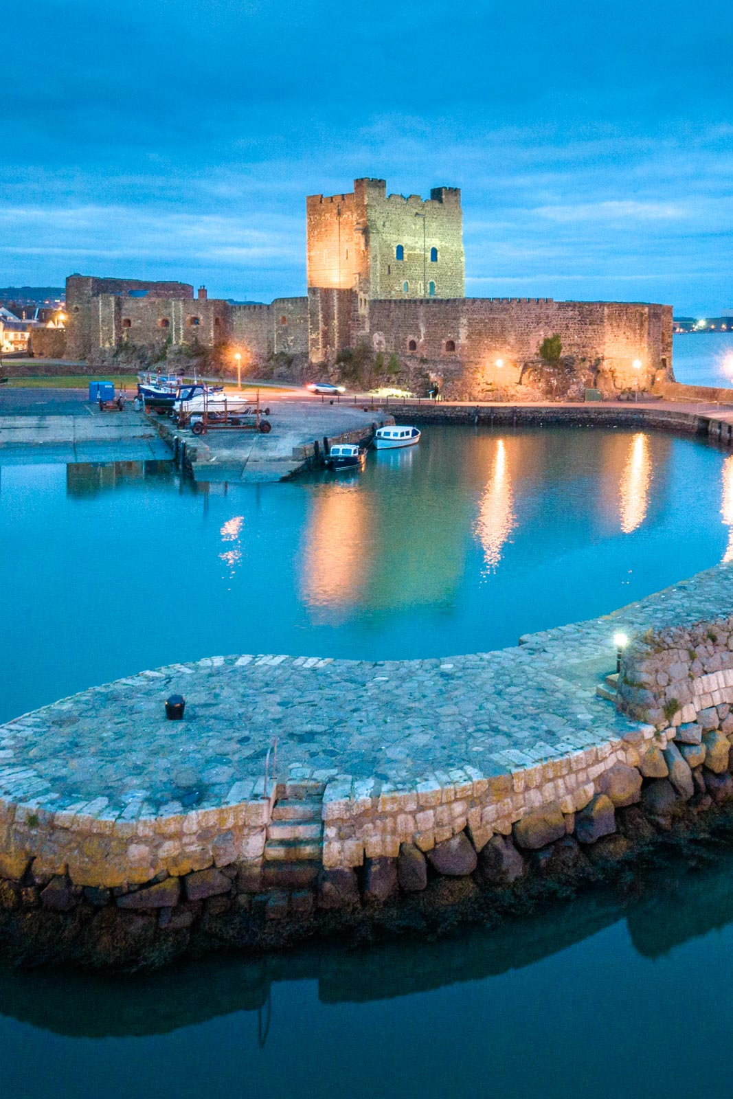 Aerial photo of Carrickfergus Castle by Bout Yeh drone photo video services Belfast and Northern Ireland - photo 0001-2