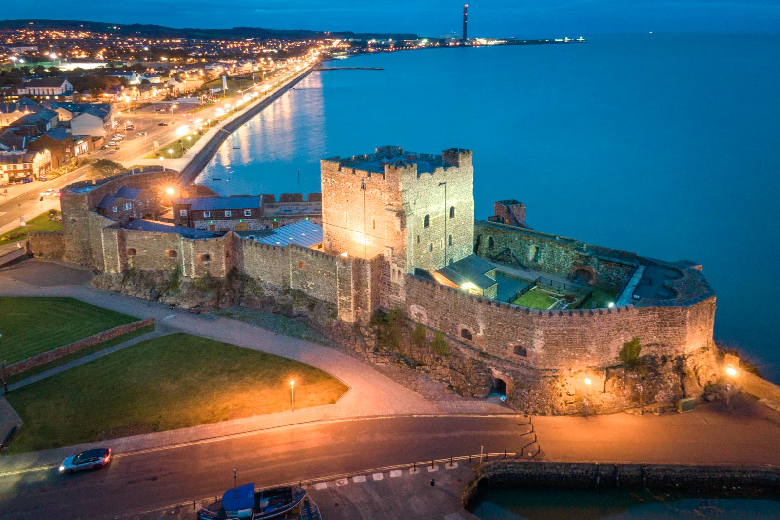 Aerial photo of Carrickfergus Castle by Bout Yeh drone photo video services Belfast and Northern Ireland - photo 0001-4