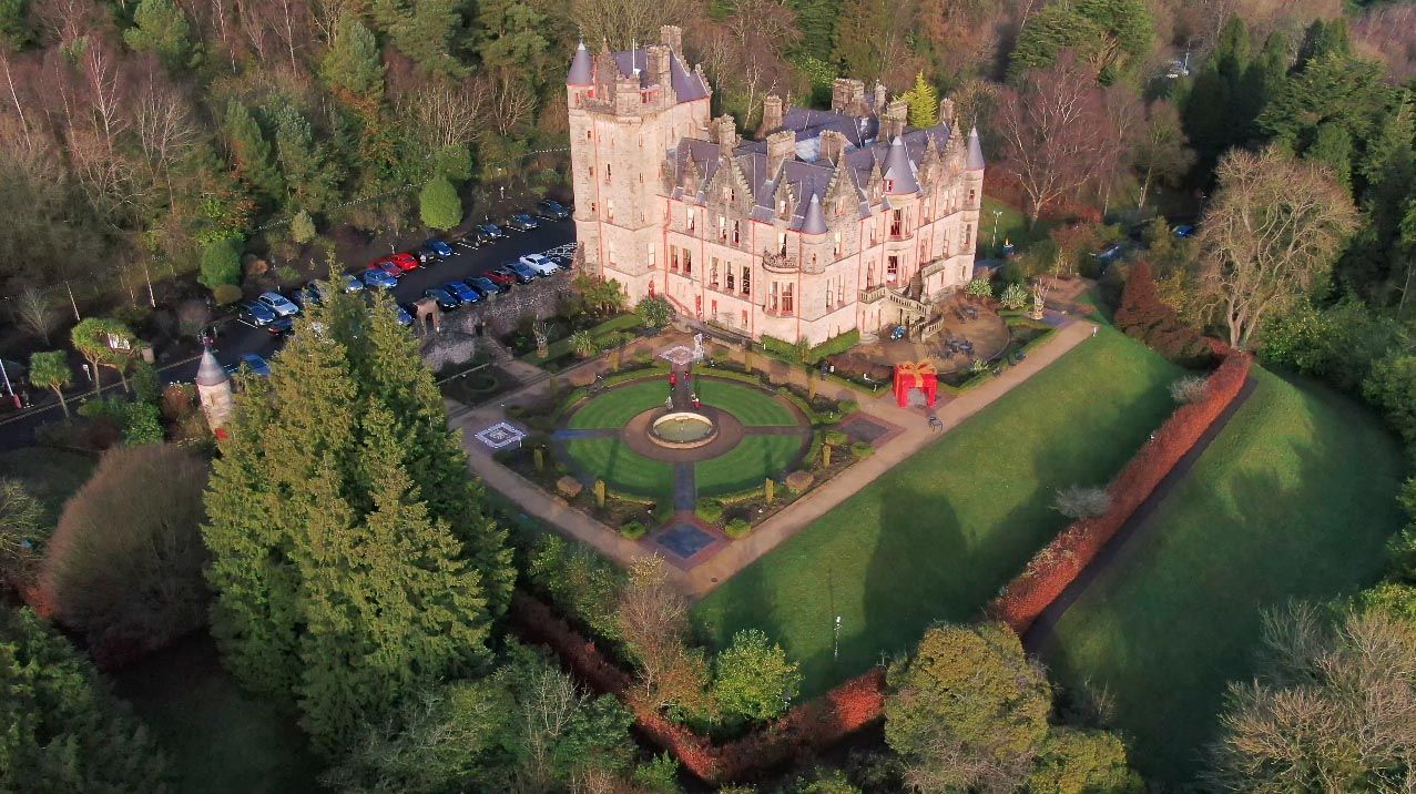 Screenshot of aerial video 3 of Belfast Castle, Belfast, by Bout Yeh drone photography and video production Northern Ireland - image 2
