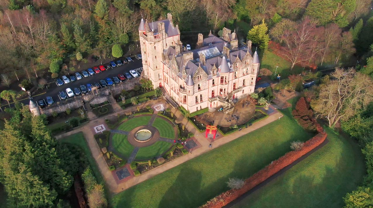 Screenshot of aerial video 3 of Belfast Castle, Belfast, by Bout Yeh drone photography and video production Northern Ireland - image 4