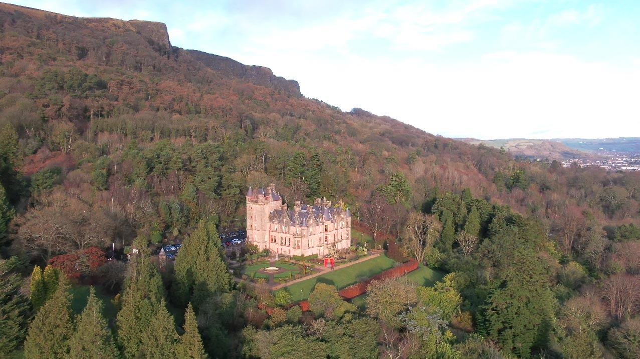 Screenshot of aerial video 3 of Belfast Castle, Belfast, by Bout Yeh drone photography and video production Northern Ireland - image 7