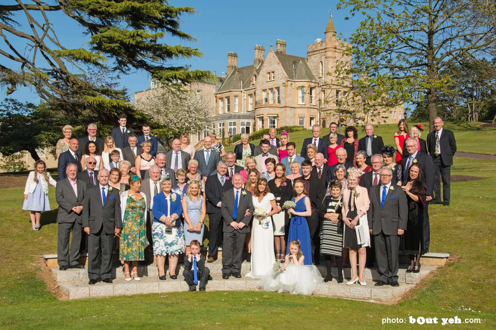 Michael and Annette's wedding photographed by Bout Yeh wedding photographers and video services Belfast and Northern Ireland. Photo 6107