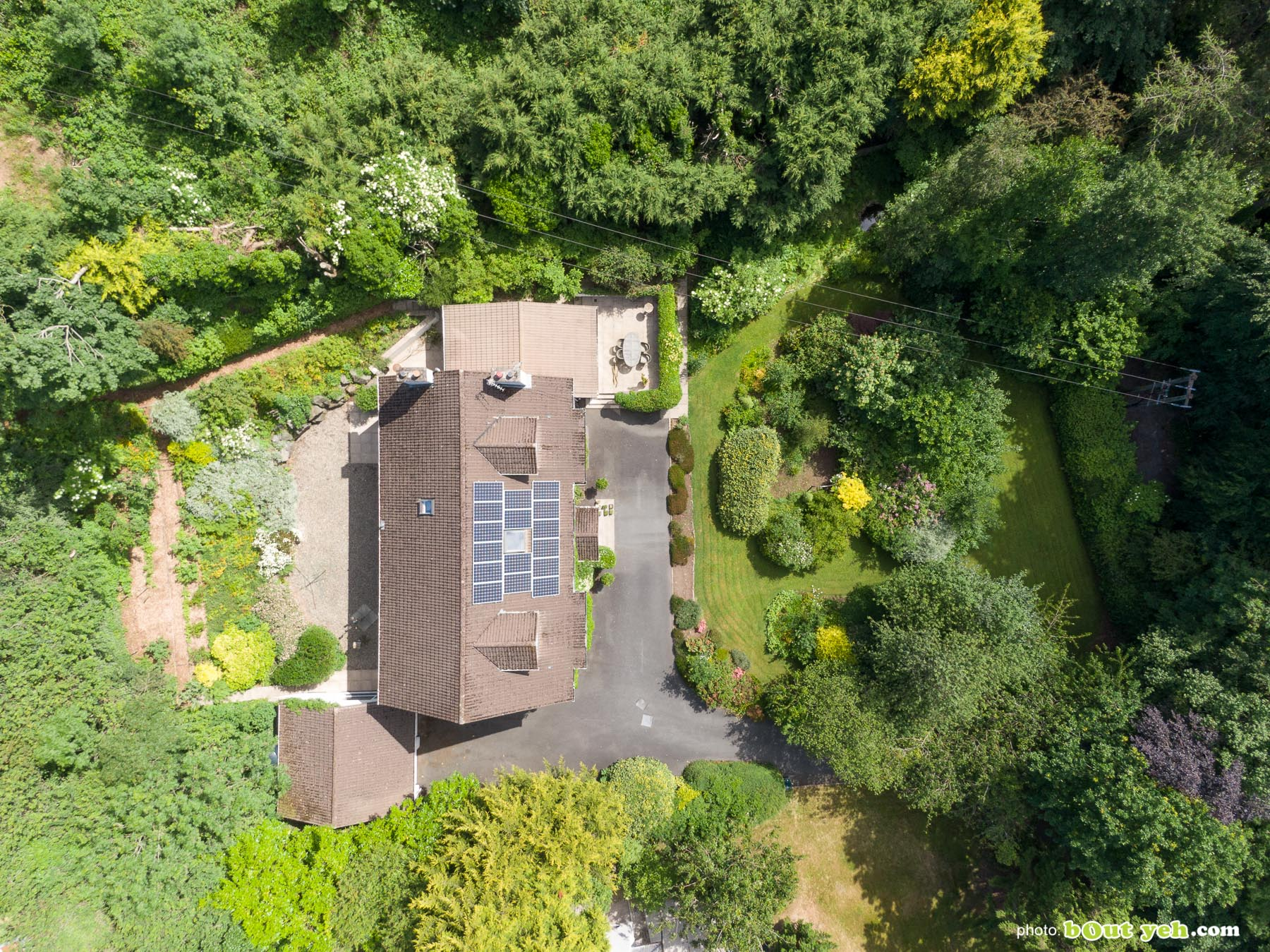 Aerial photo of 2 Glenside, for Templeton Robinson Estate Agents - drone photography and video by Bout Yeh photographers Belfast. Photo 0004