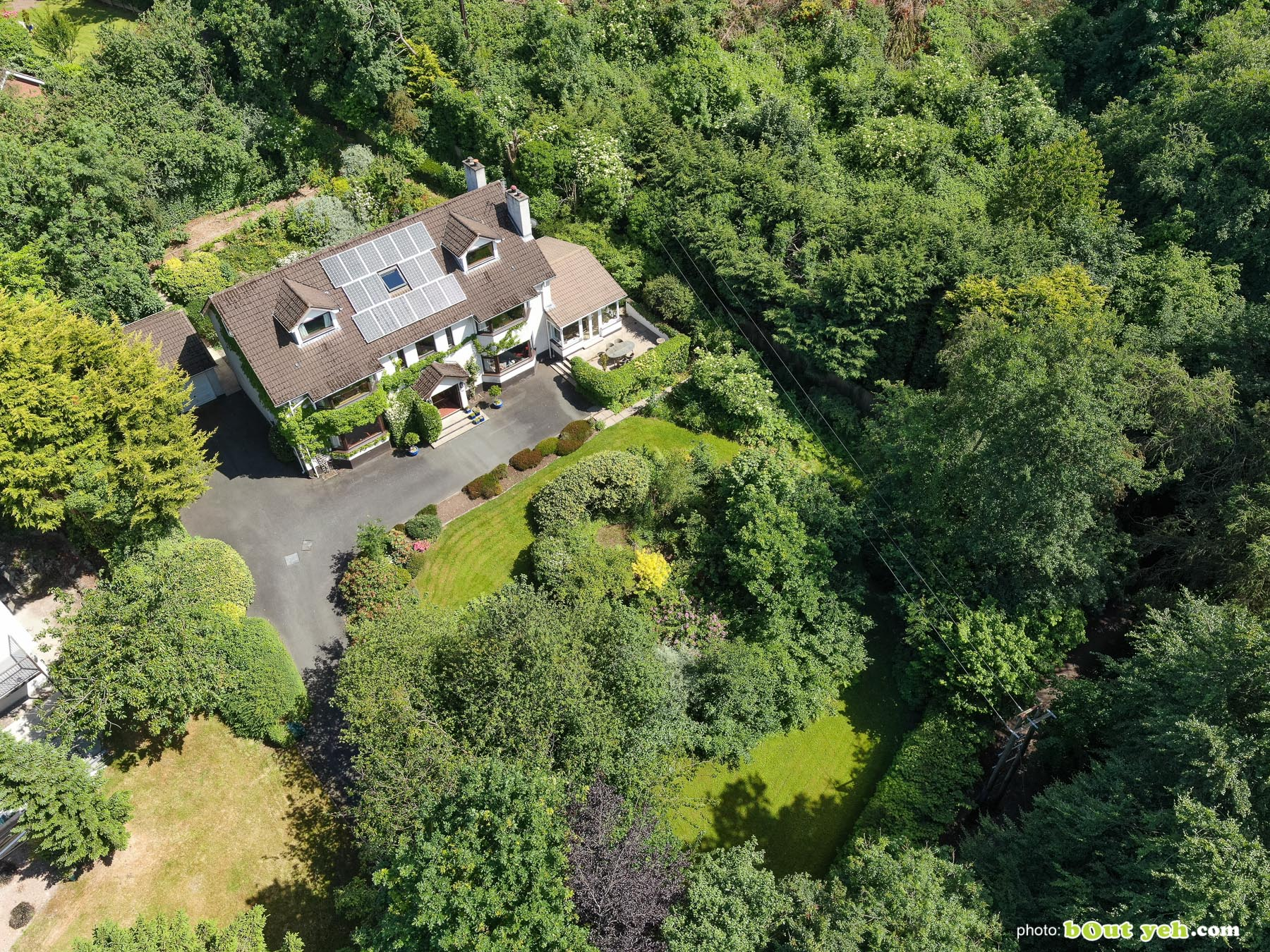 Aerial photo of 2 Glenside, for Templeton Robinson Estate Agents - drone photography and video by Bout Yeh photographers Belfast. Photo 0010