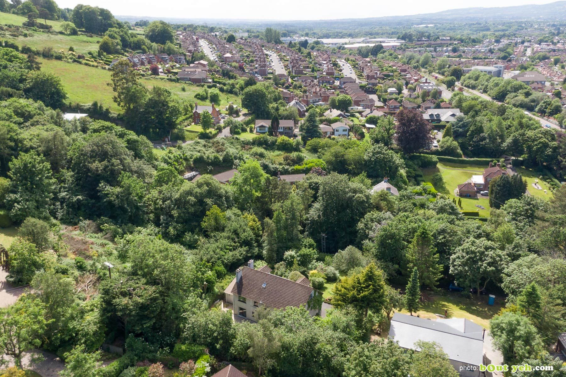 Aerial photo of 2 Glenside, for Templeton Robinson Estate Agents - drone photography and video by Bout Yeh photographers Belfast. Photo 0013